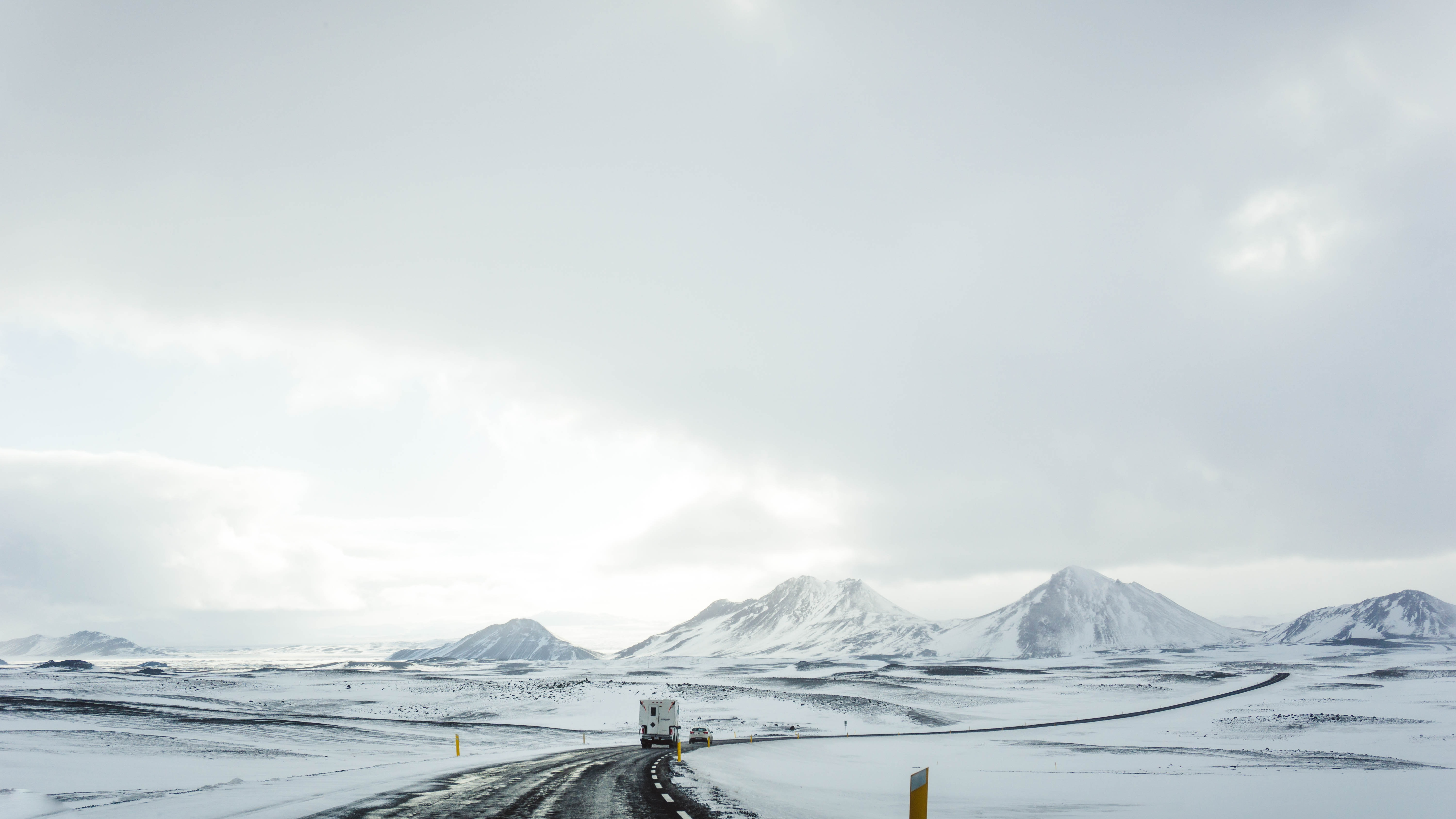 landscape photo of mountains covered with snow