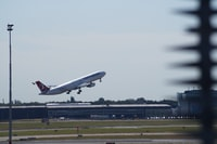 passenger plane about to take-off