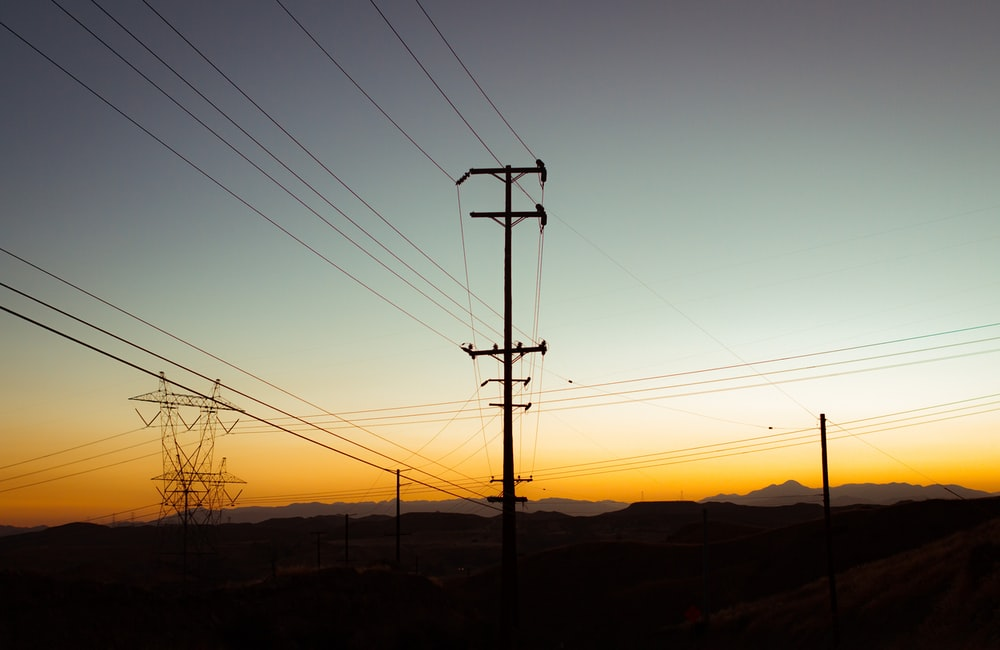 two transmission towers