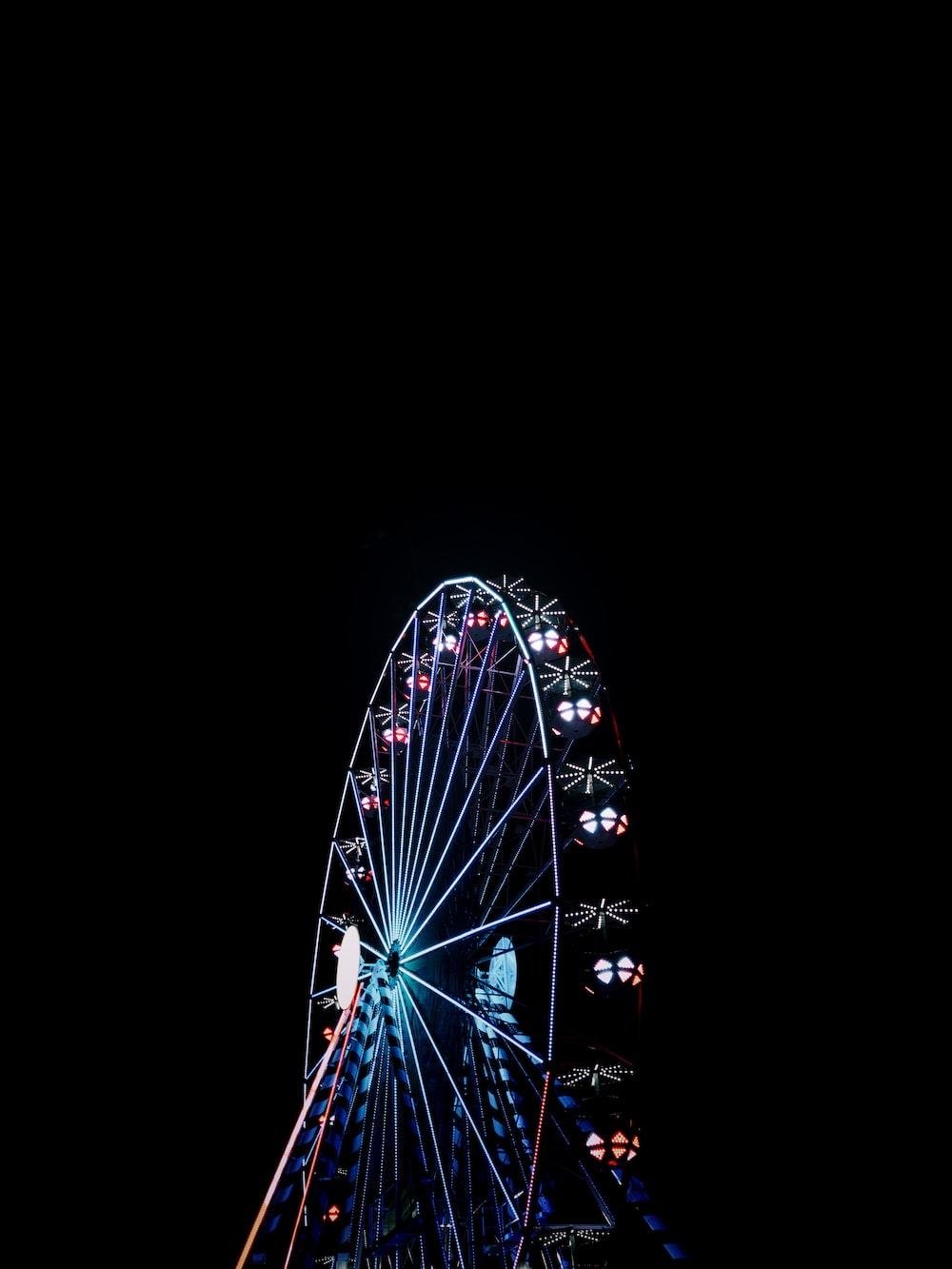 lighted Ferris-wheel