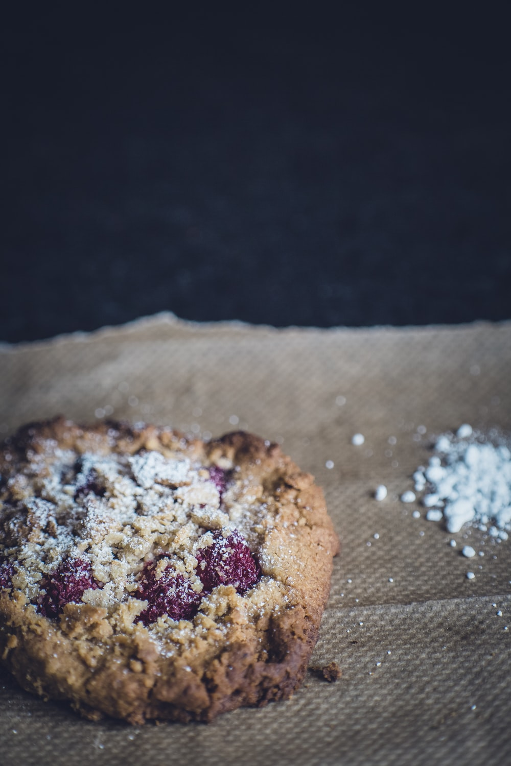 close up photography of cookie