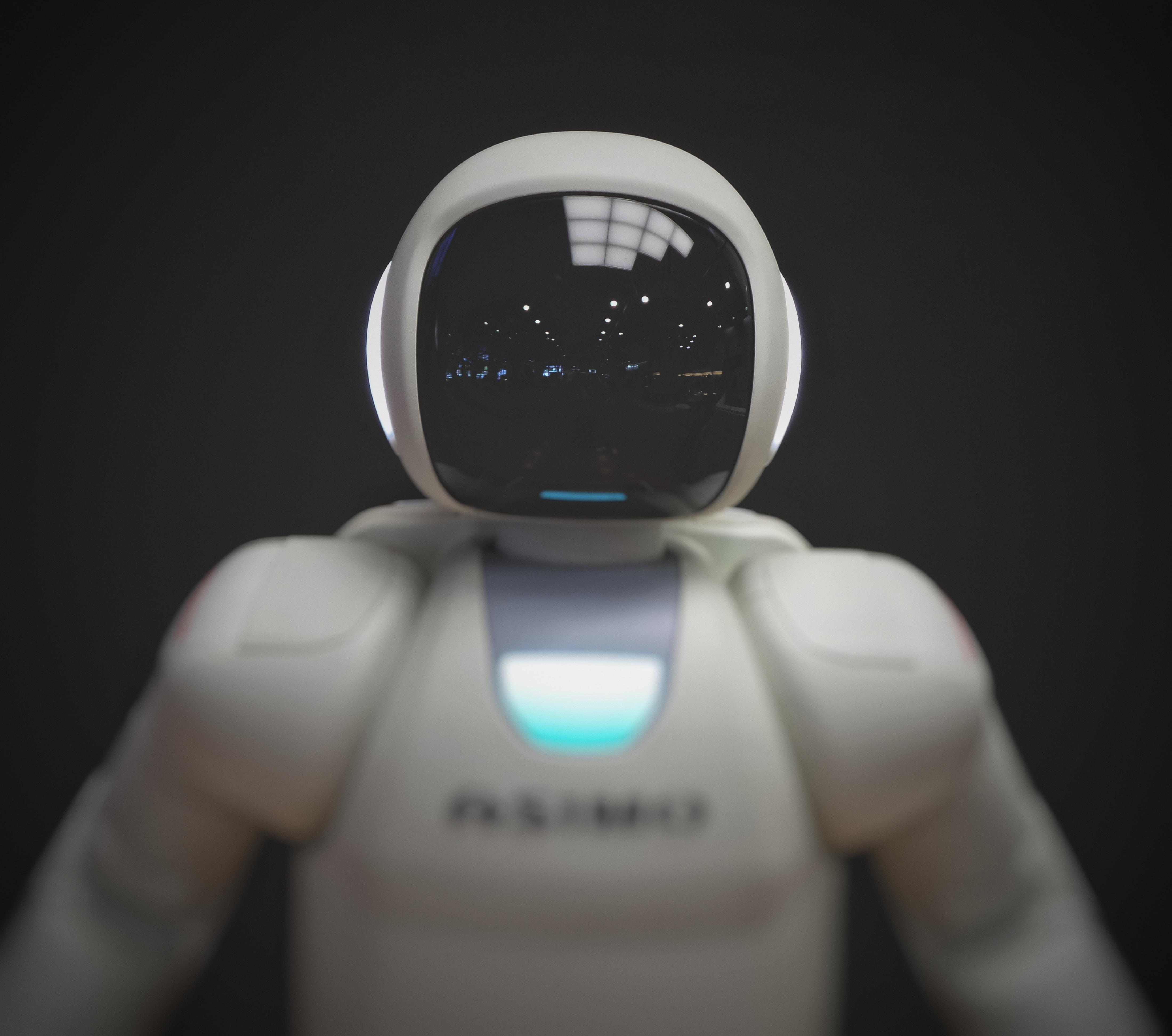 white robot wallpaper