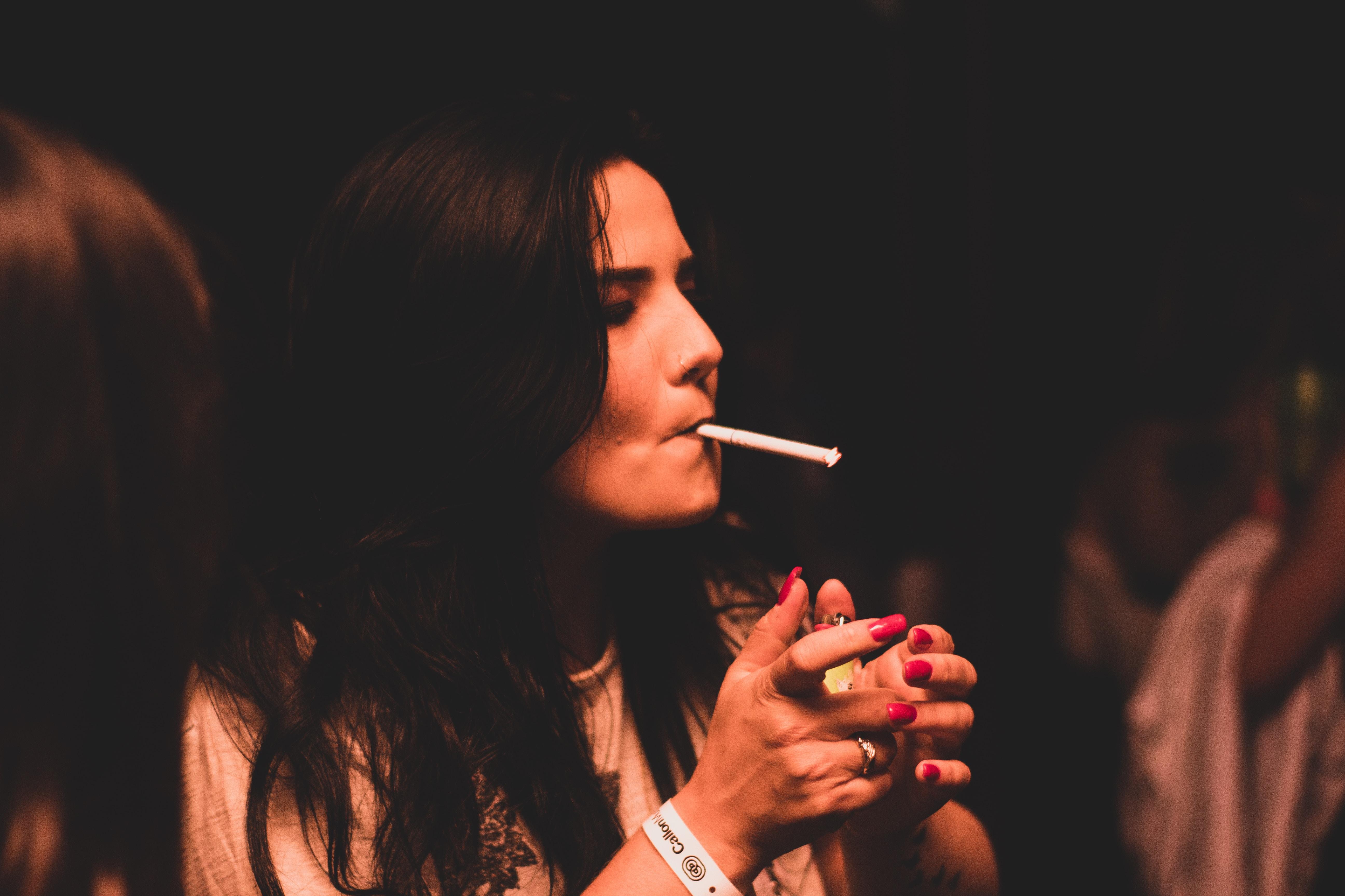 white cigarette stick