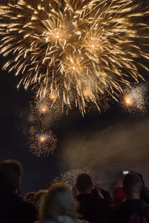 Picture shot during the International Fireworks Festival at the beach of Scheveningen.