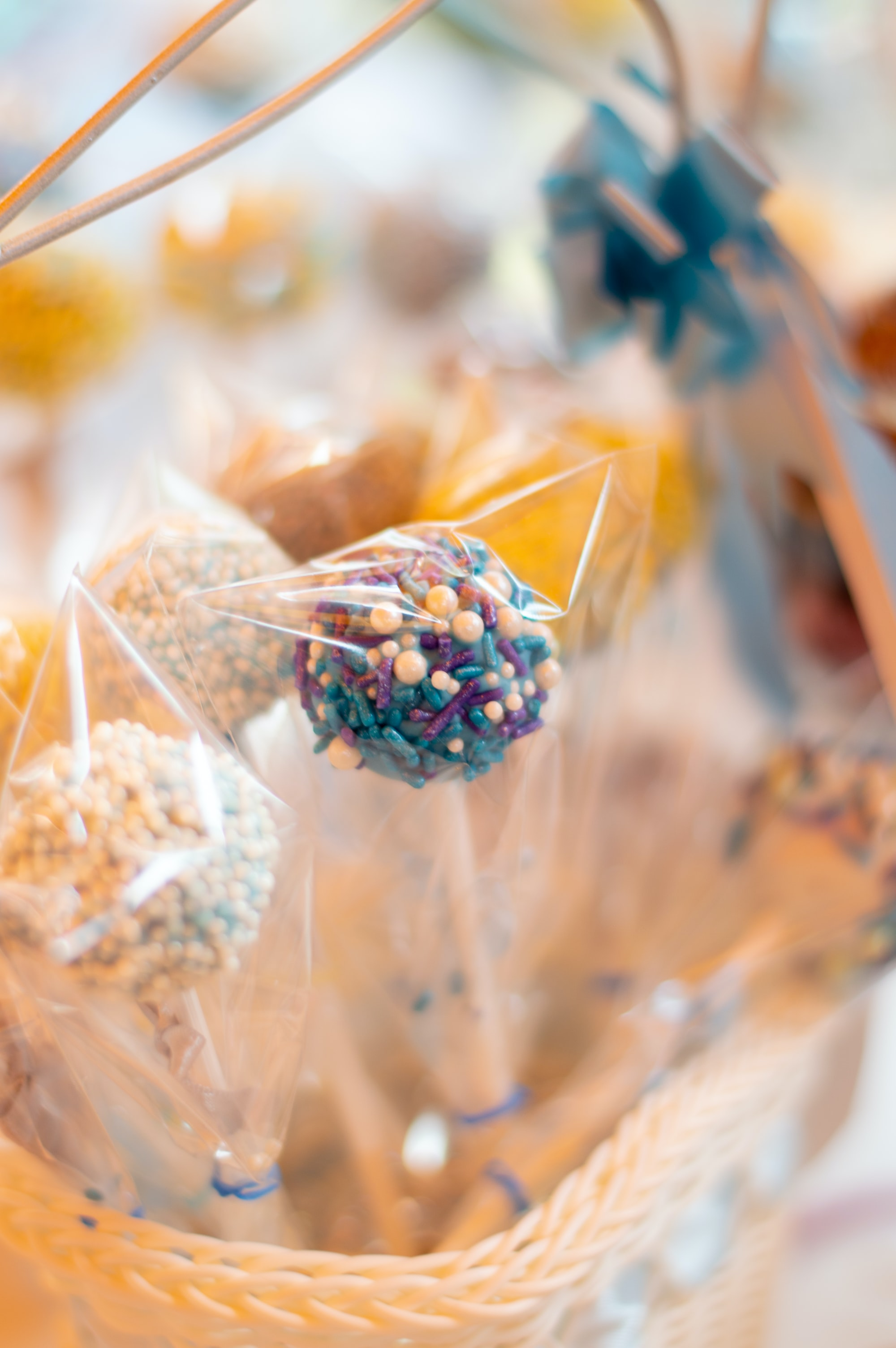 This image/photo of cake pops were taking during a Baby Shower in Mexico during the Summer of 2018.  The table had many different Mexican treats, candies and fruits which were very delicious.