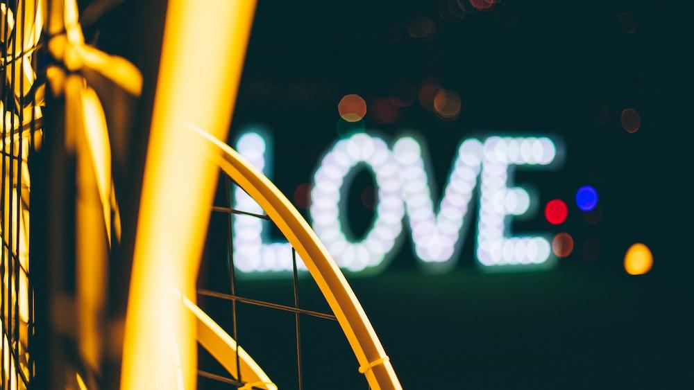 love signage with light screenshot