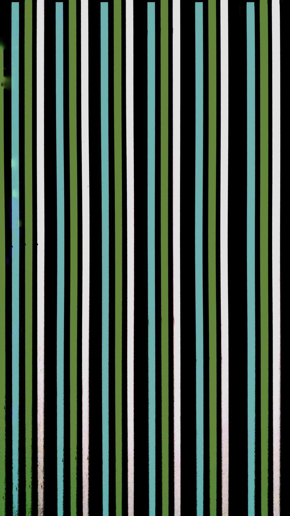 black, white, and green stripe digital wallpaper