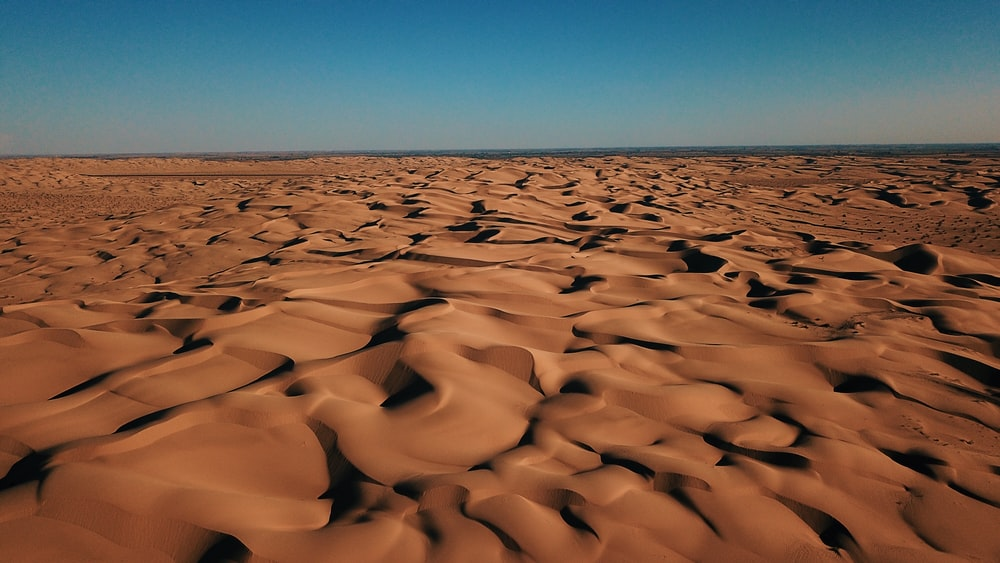 photography of brown sand