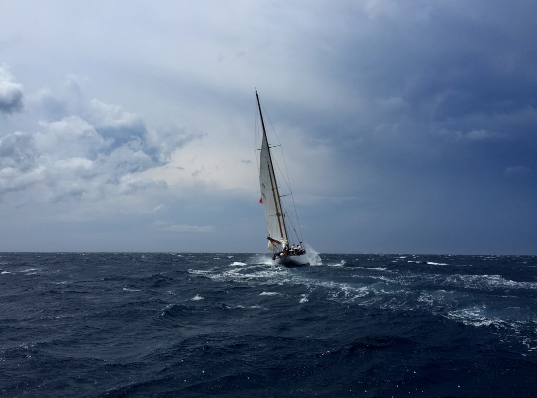 sailing boat, before the storm