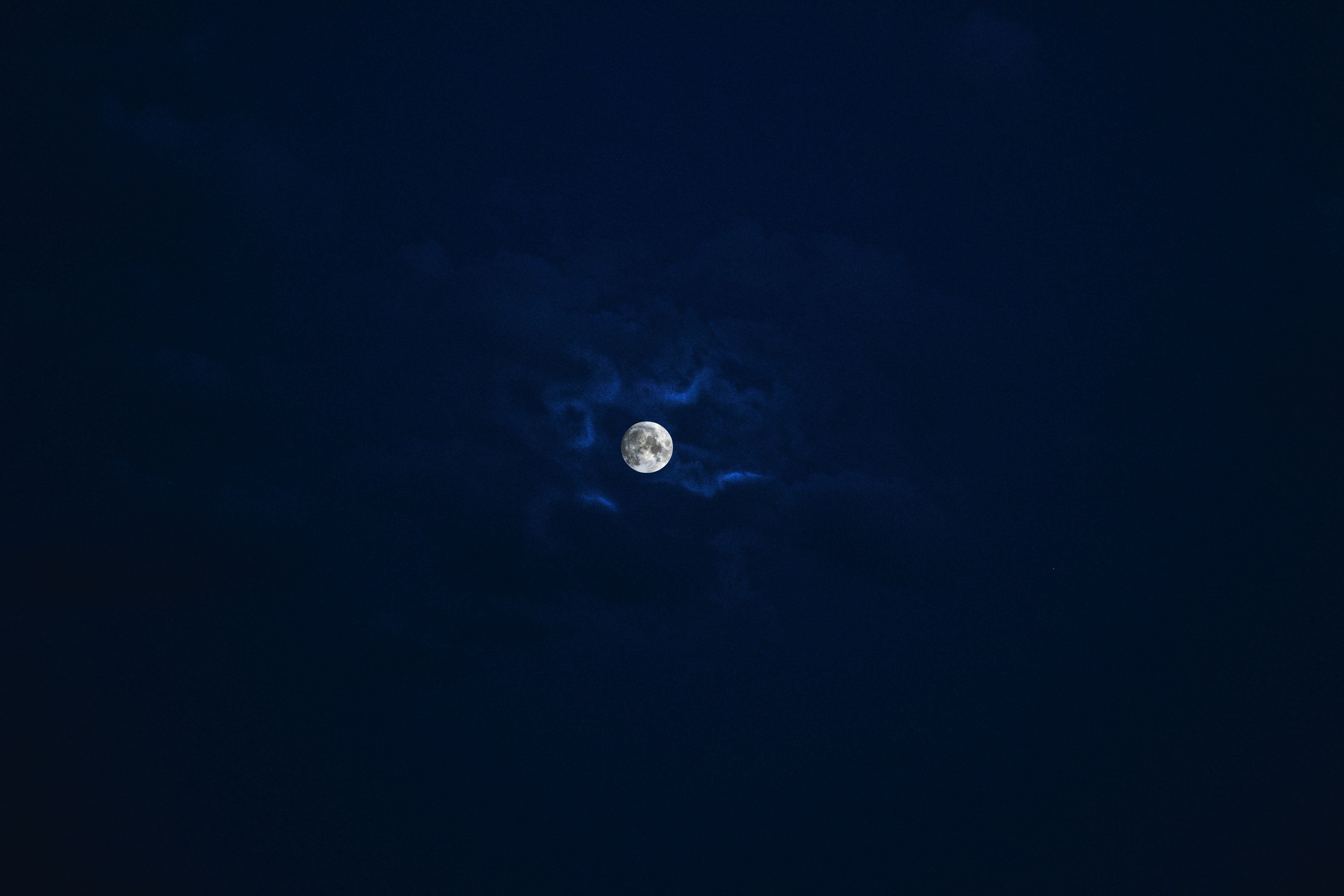 silhouette photo of moon