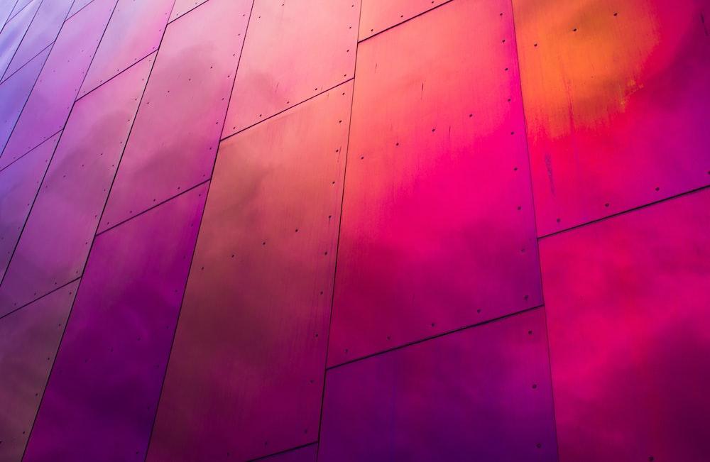pink metal board