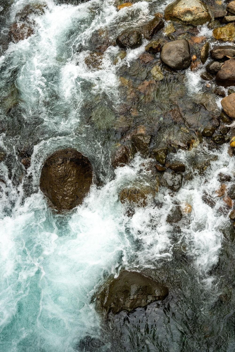 aerial view photography of cascade waterfalls