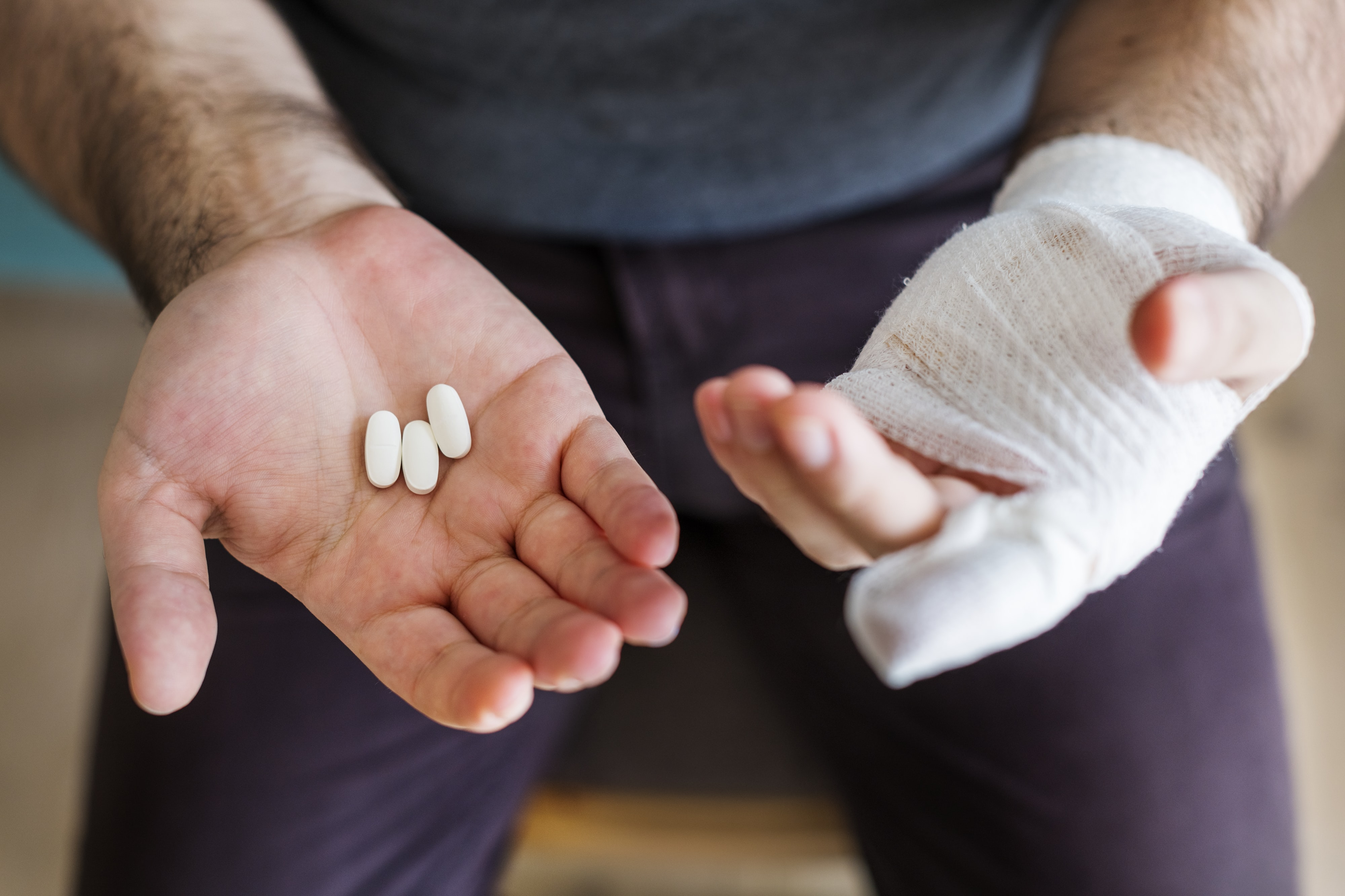 three white medicine tablets