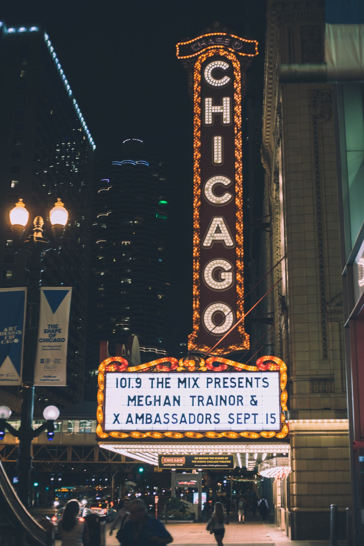 Chicago neon light signage