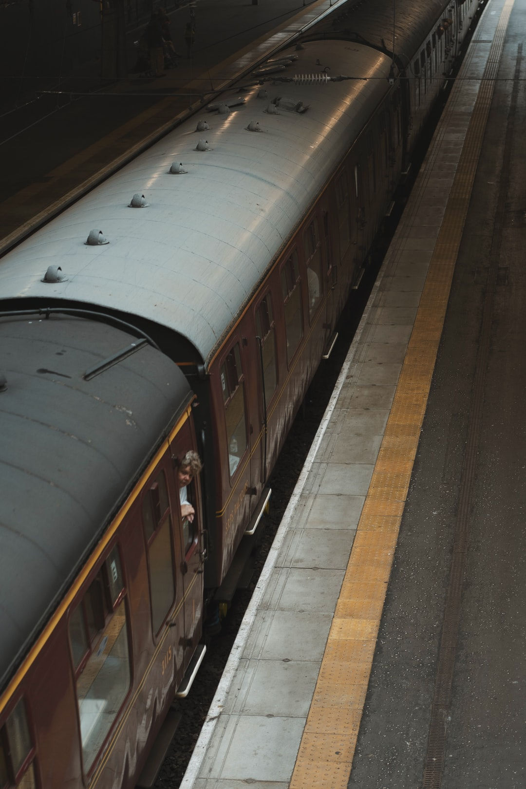 The Jacobite train pulls into Edinburgh Waverly.