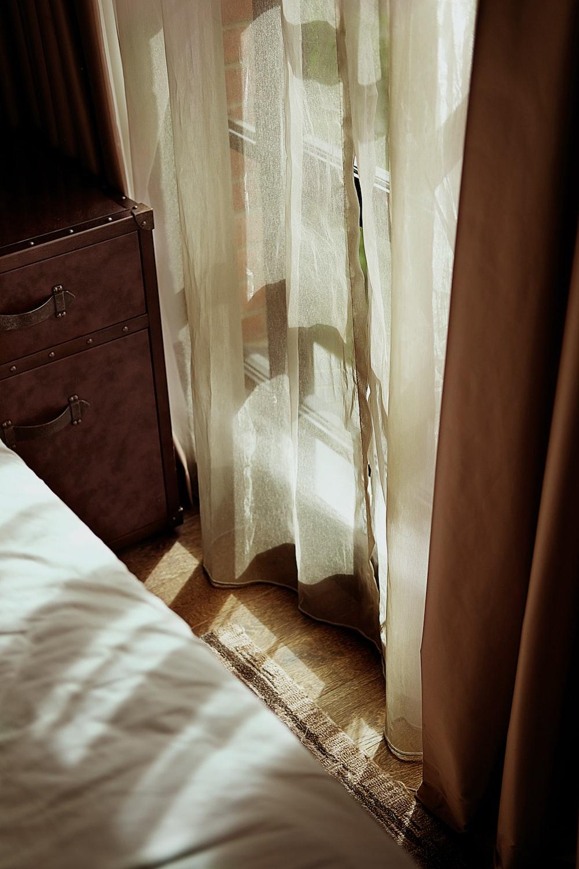 brown wooden nightstand