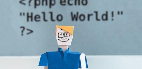 Hello World text