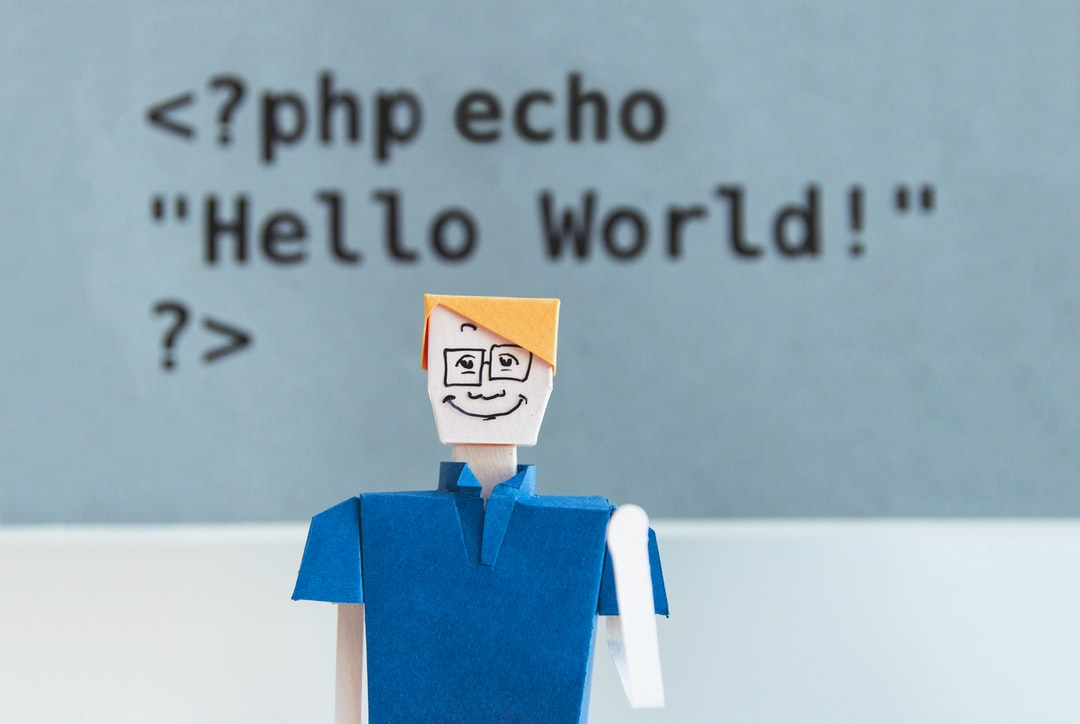 Papercraft toy in front of PHP echo statement