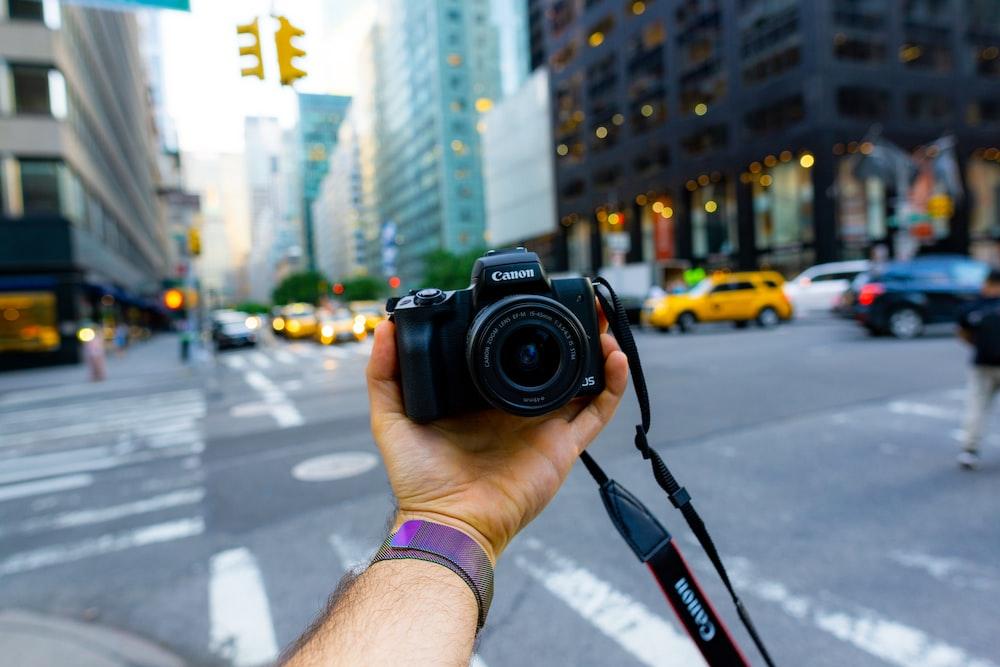 black Canon DSLR
