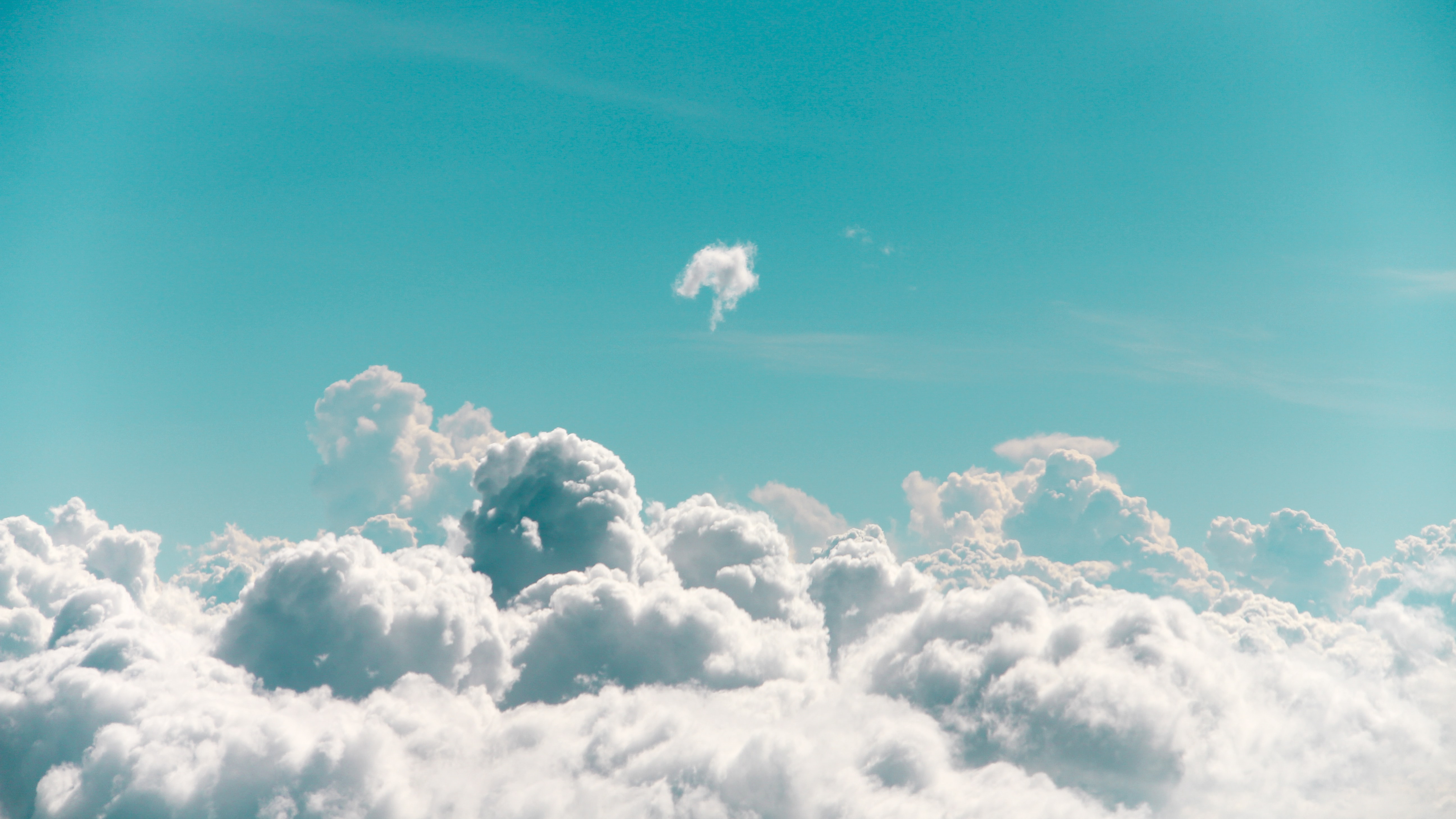 white clouds photography