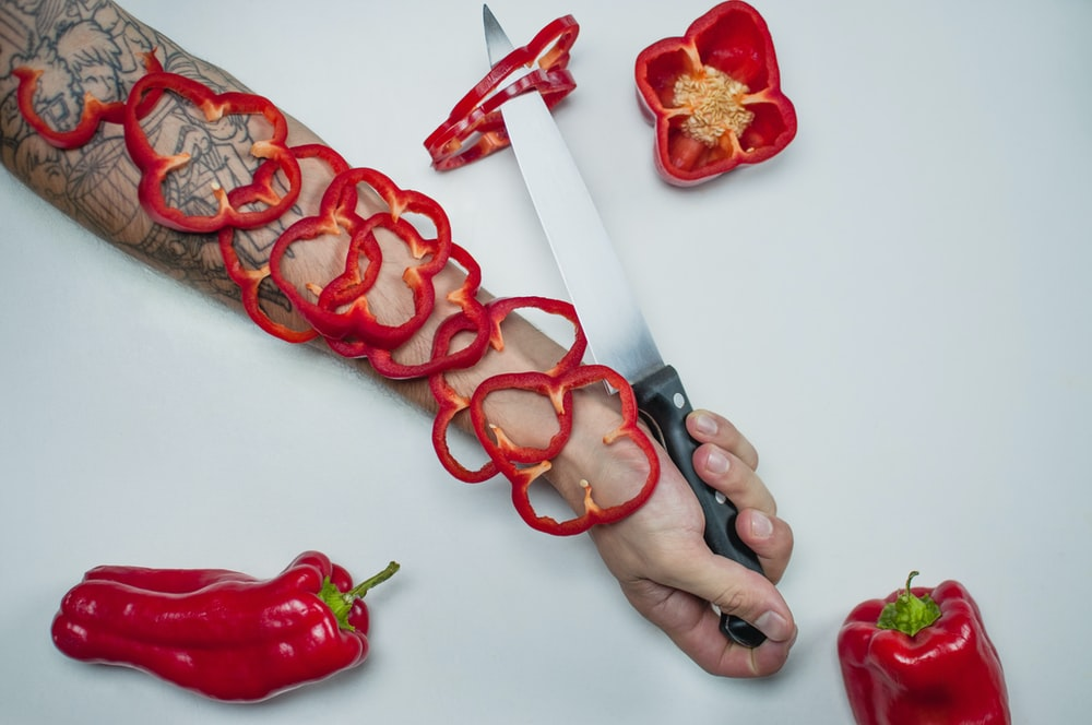 gray knife