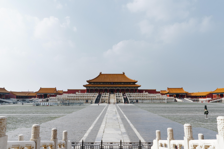 brown pagoda under blue sky