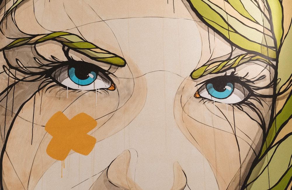 woman's portrait artwork