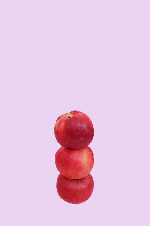 three overlapping honeycrisp apples