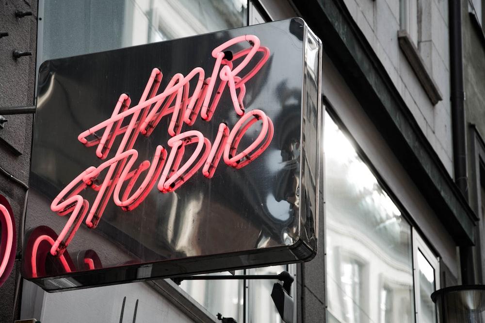 Hair Studio neon LED signboard