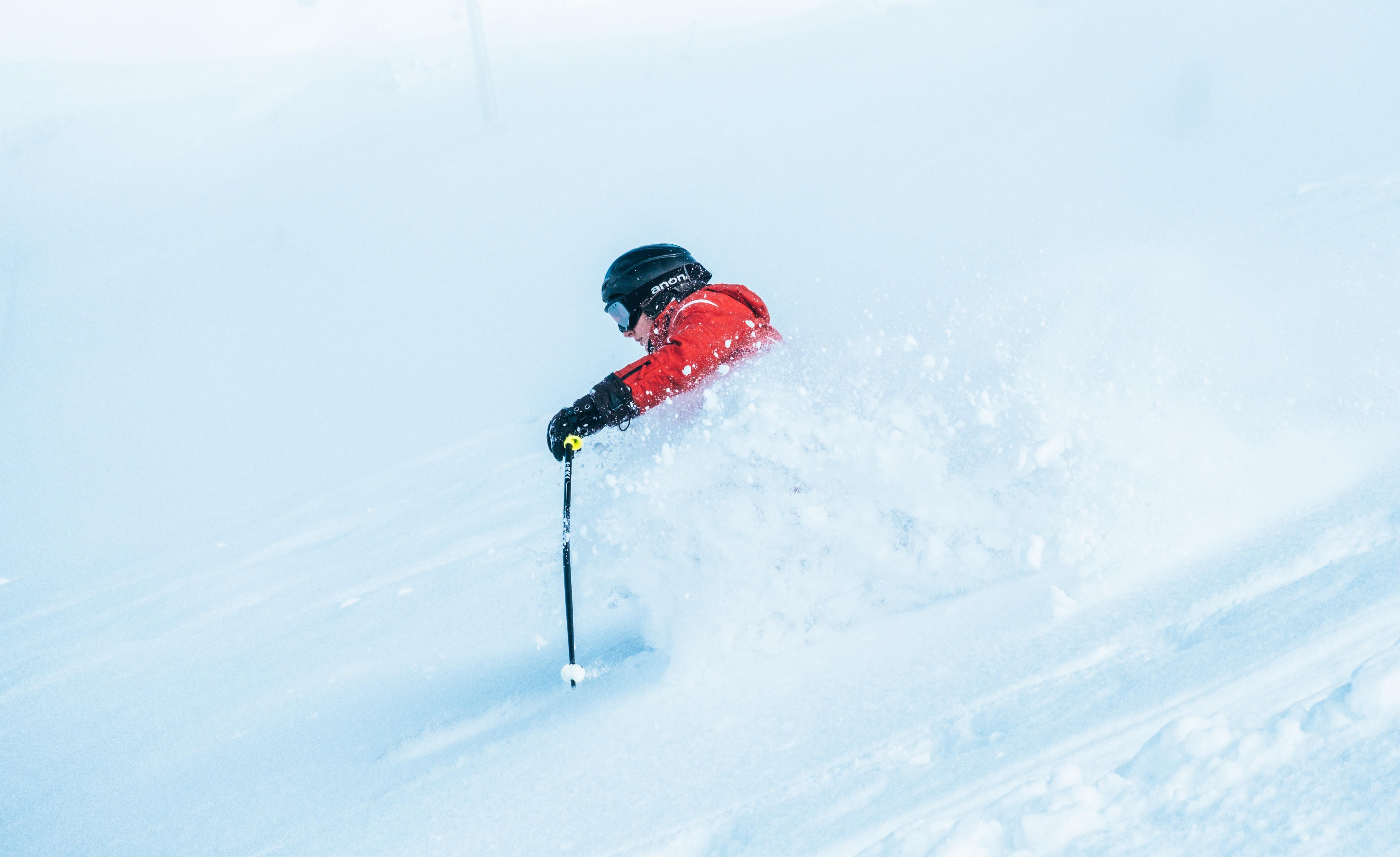 person performing ski