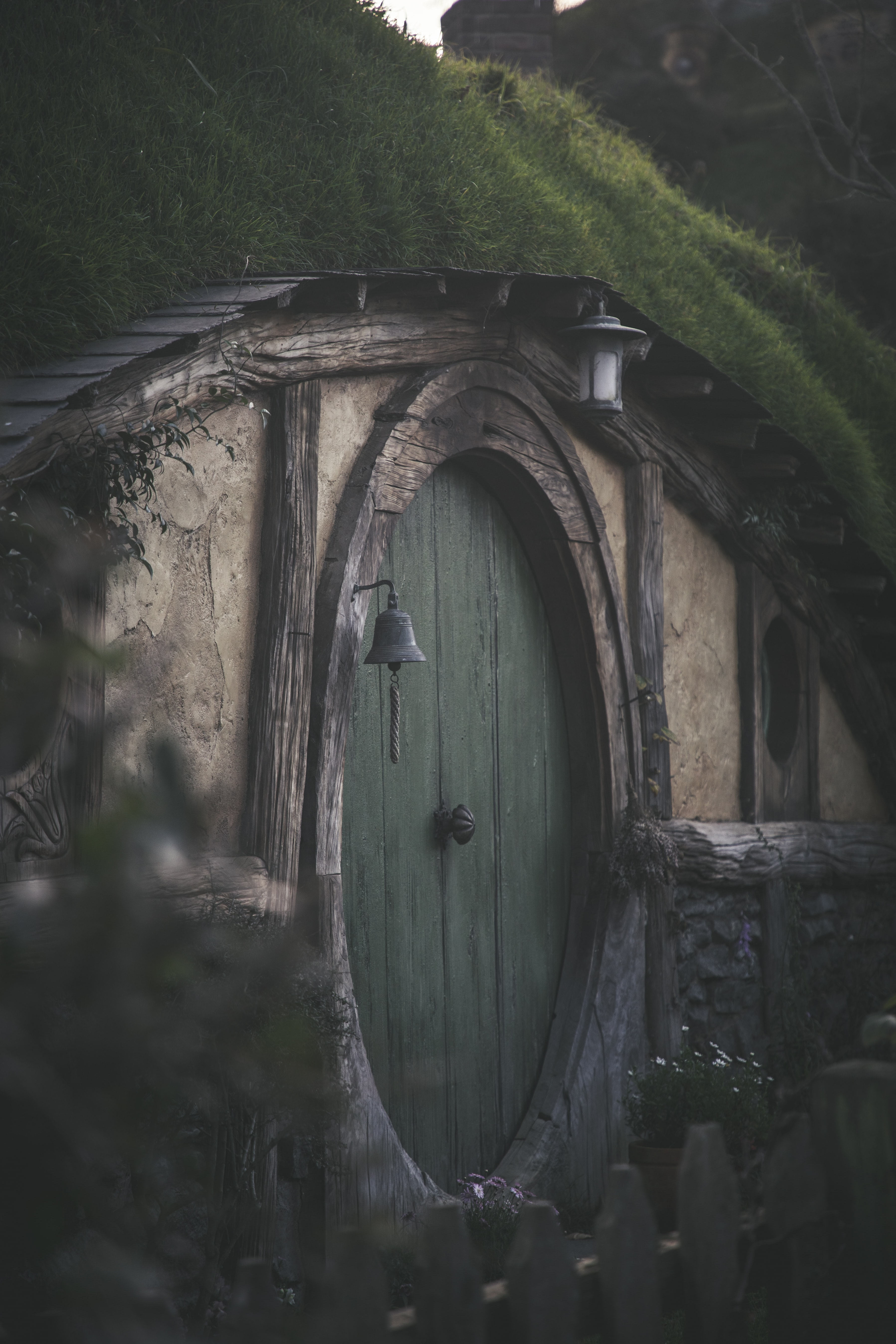 green and wooden tunnel house