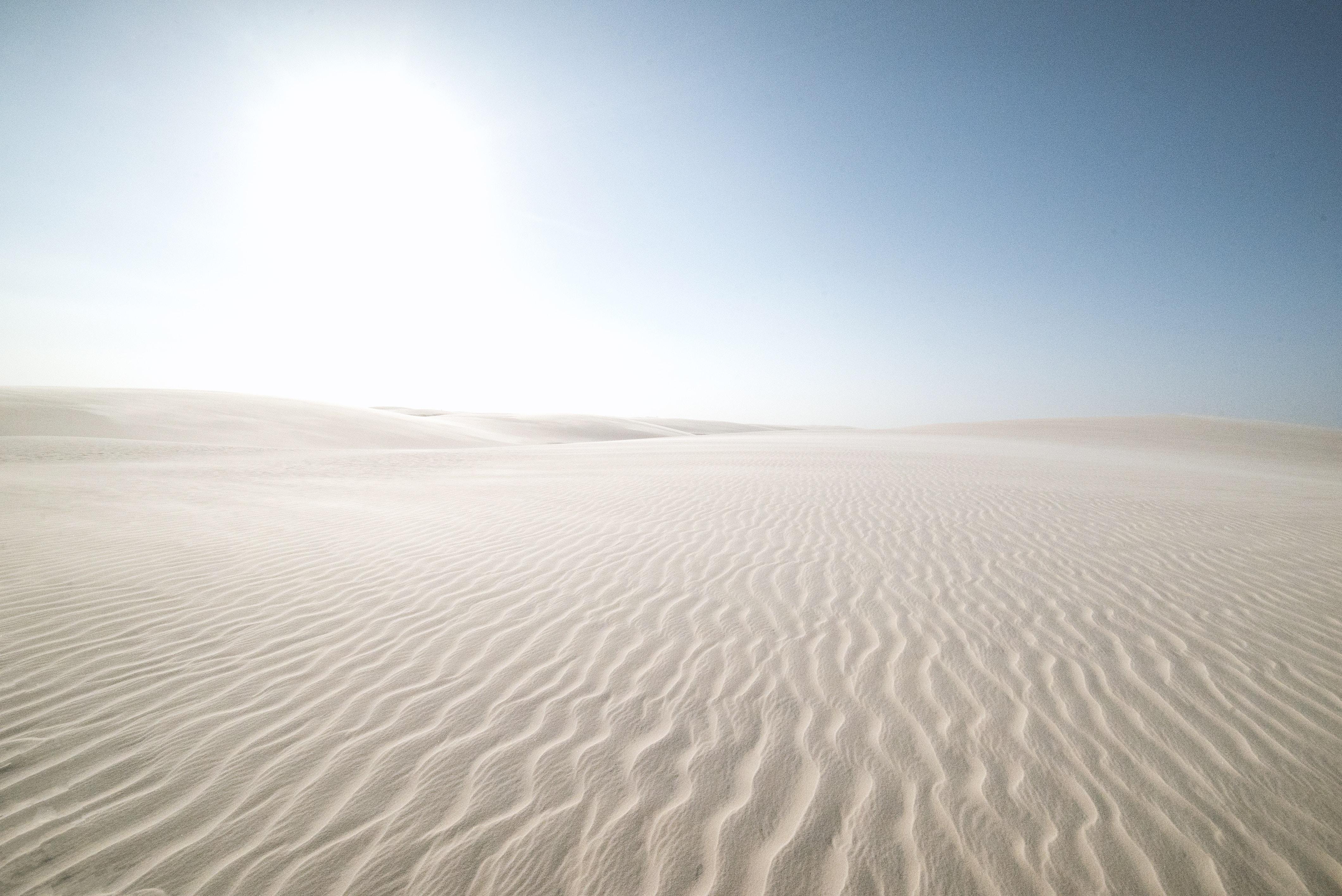 gray sand dunes