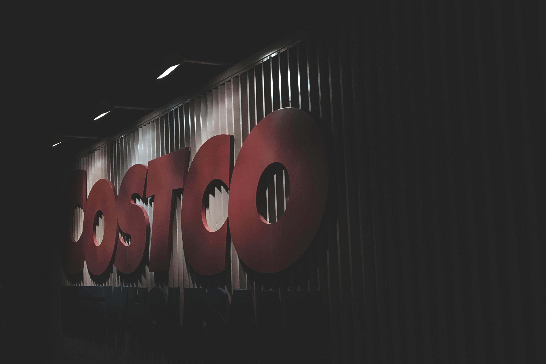 red Costco signage