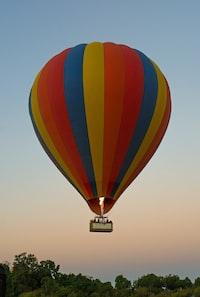 multicolored hotair balloon on sky