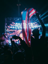 person holding Malaysian flag