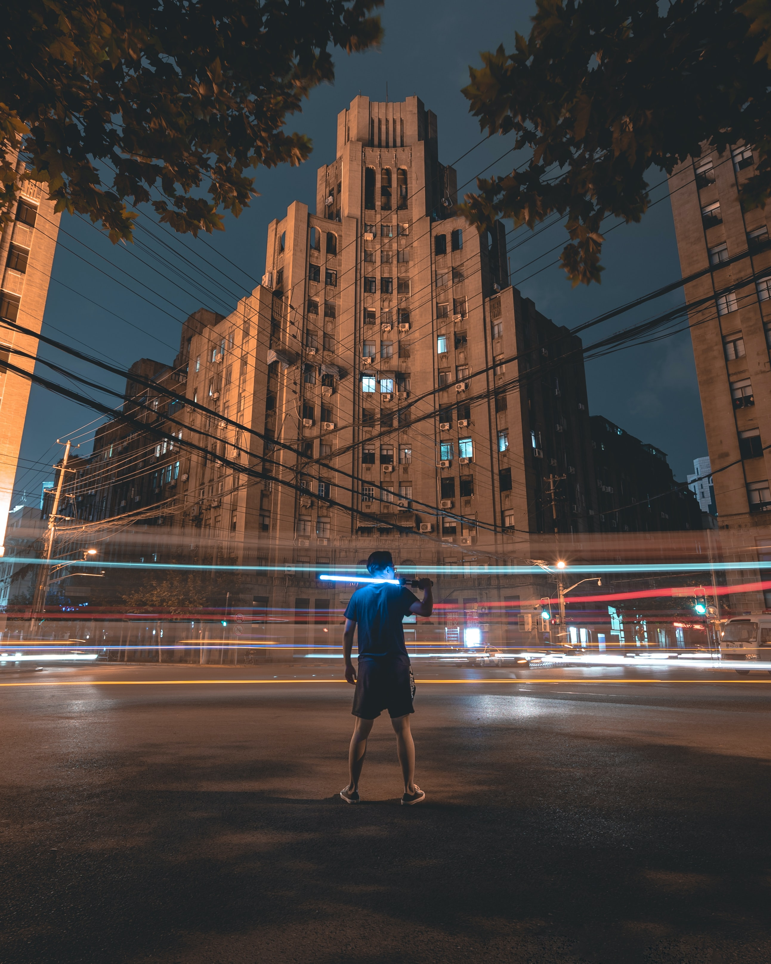 time-lapsed photography