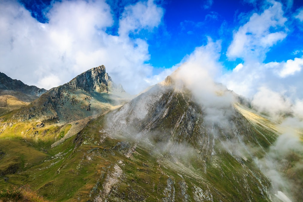 green mountains during daytime