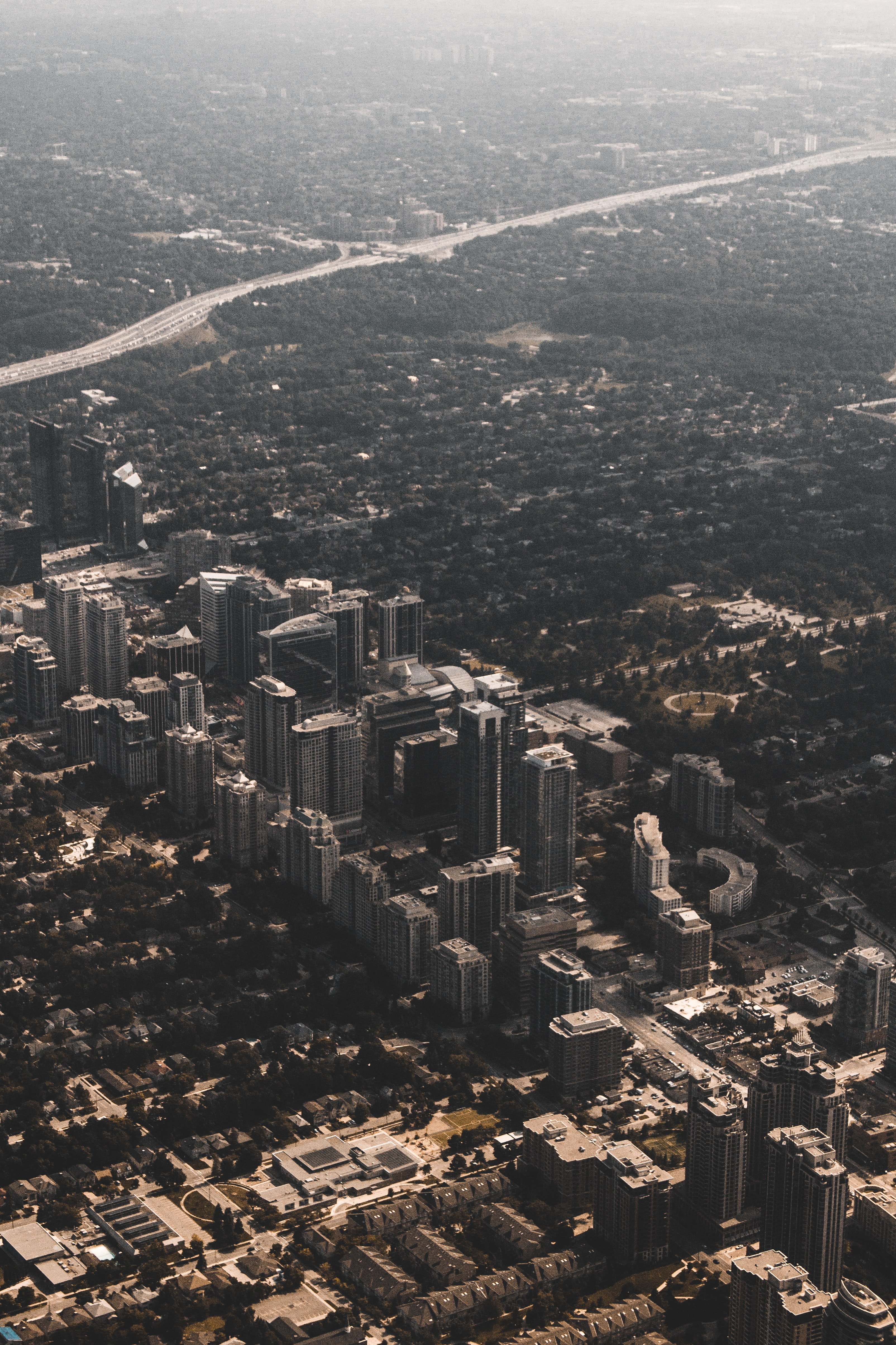 bird's eye view photography of cityscape