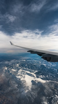 airplane view of mountains during daytime