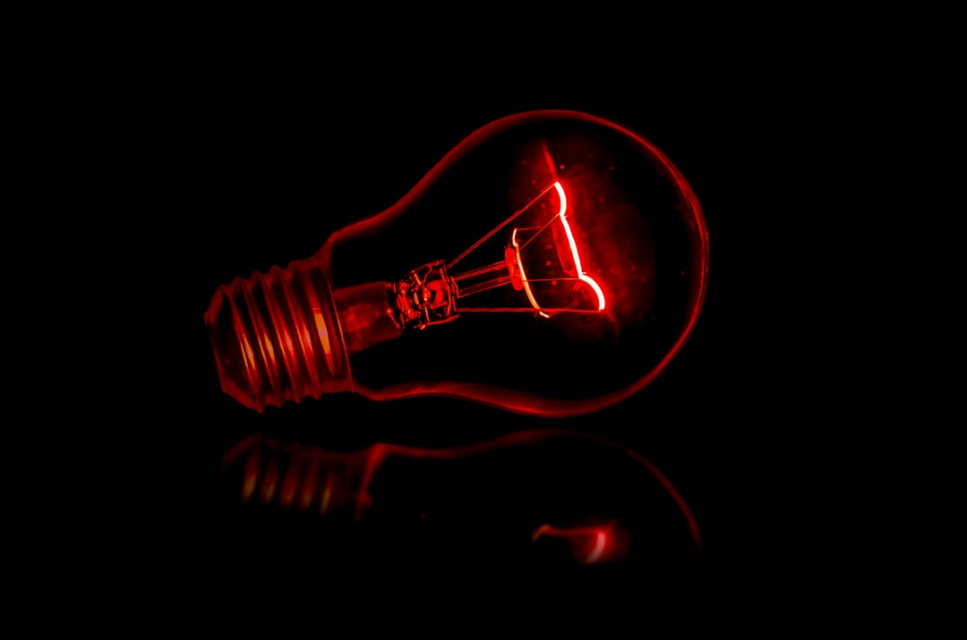 A Light Bulb Lit Magically With No El Hd Photo By