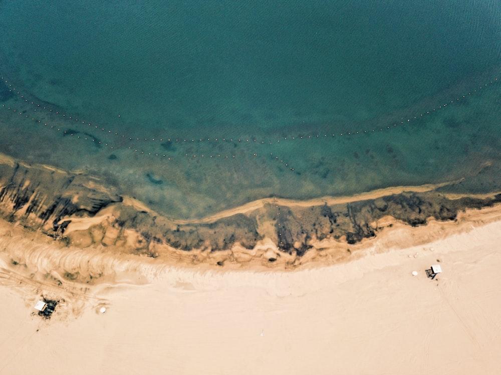 bird's eye view photo of ocean