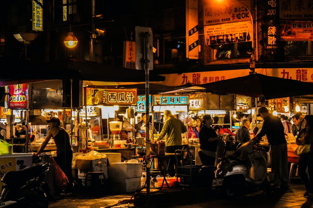 people eat on street foods