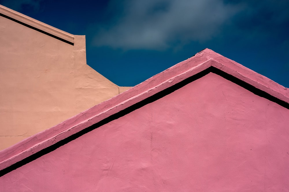 pink concrete house