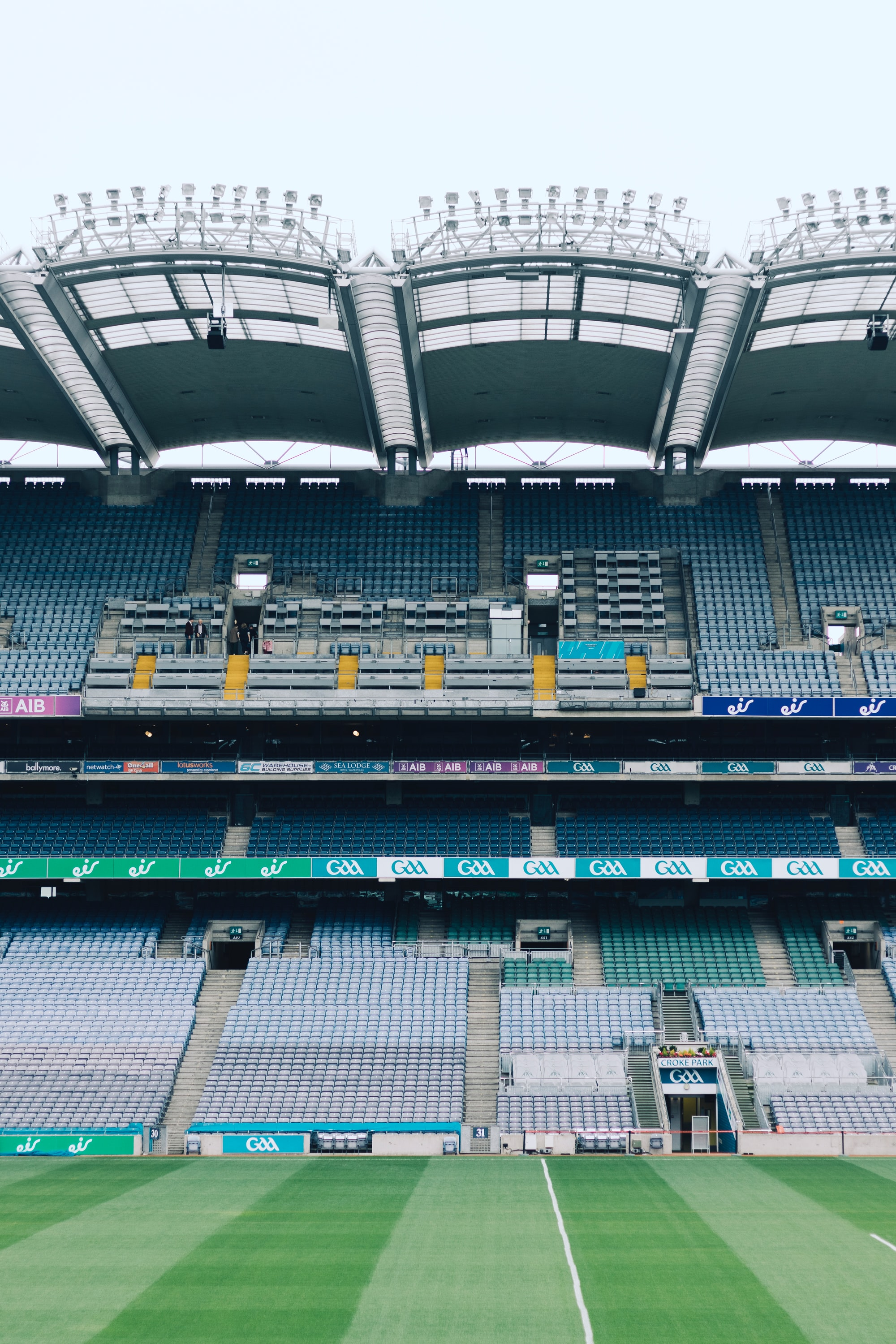 Croke Park is the stadium of Dublin. It's the home of Gaelic Athletic Association (as you can see on the banners) and Gaelic games. The day I visited it, Prince Harry had been there few hours before and he walked on that grass. It's something unusual because of the conflicts between UK and Ireland!