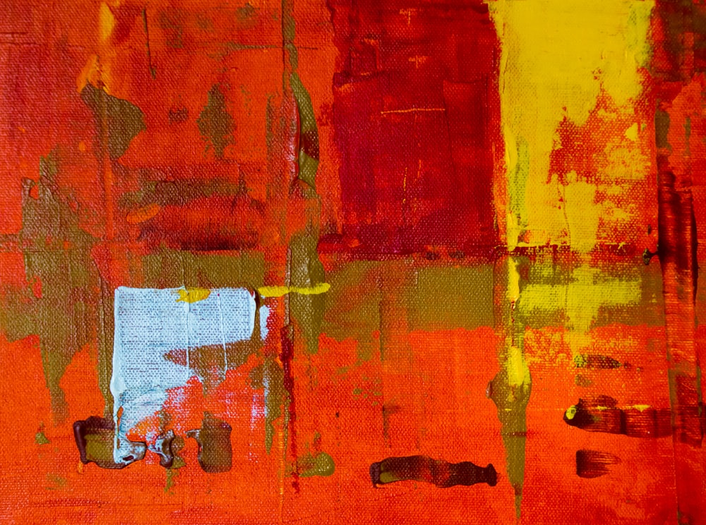 red and yellow wall paints