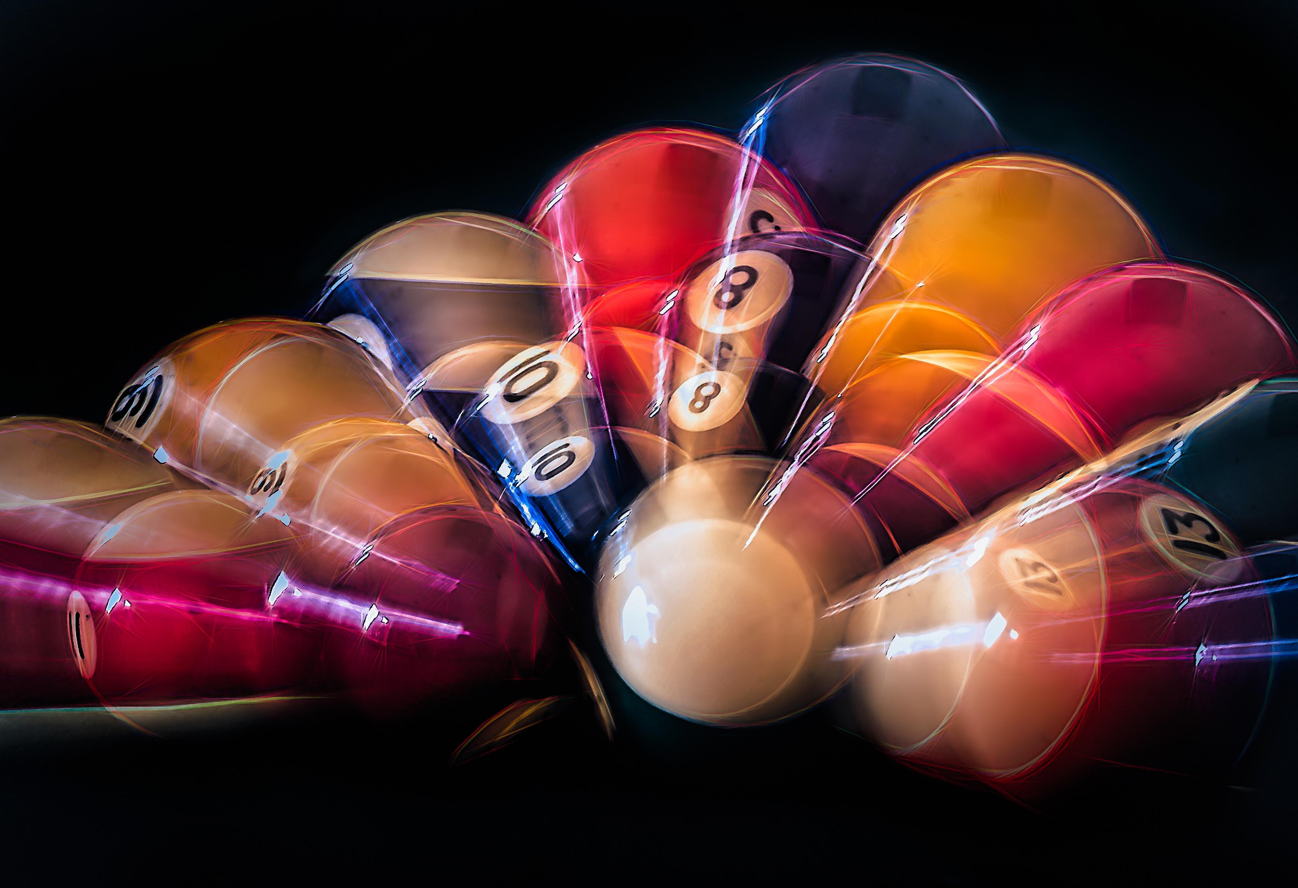 photo of pool balls