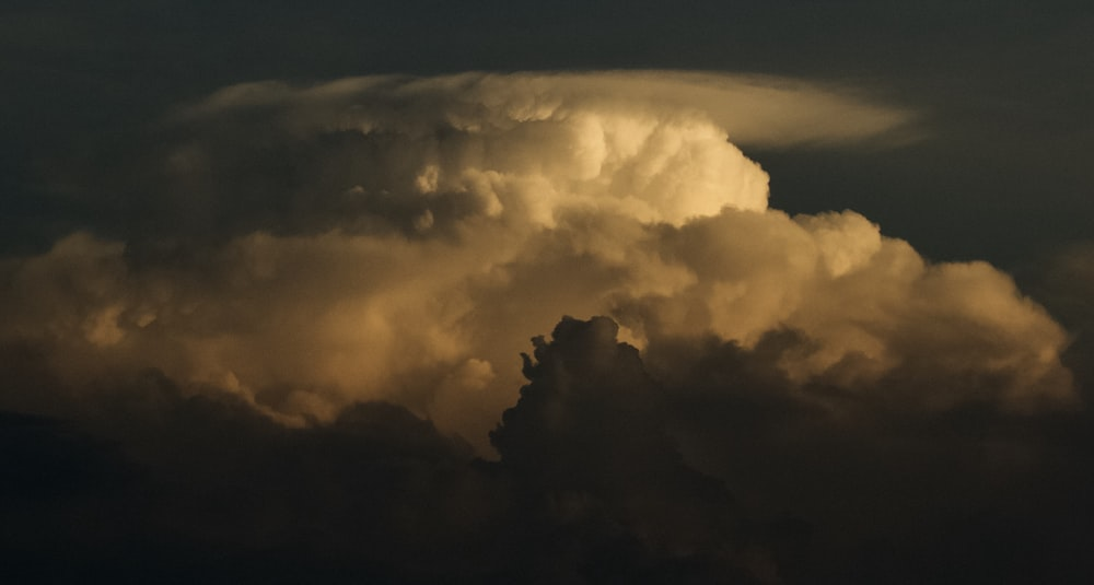 aerial photo of clouds