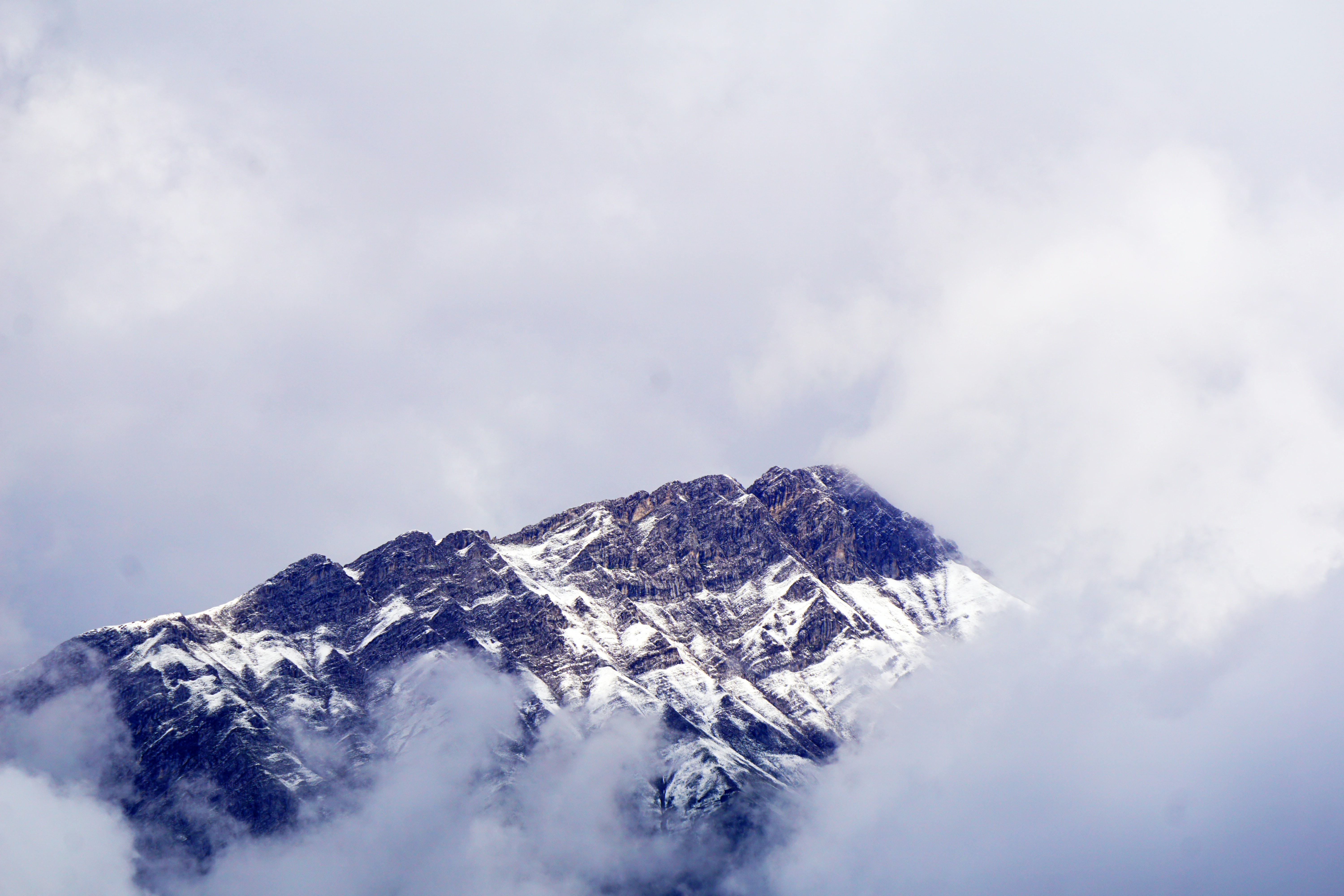 mountain covered of snow