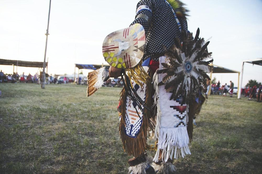 totem poles on grass field