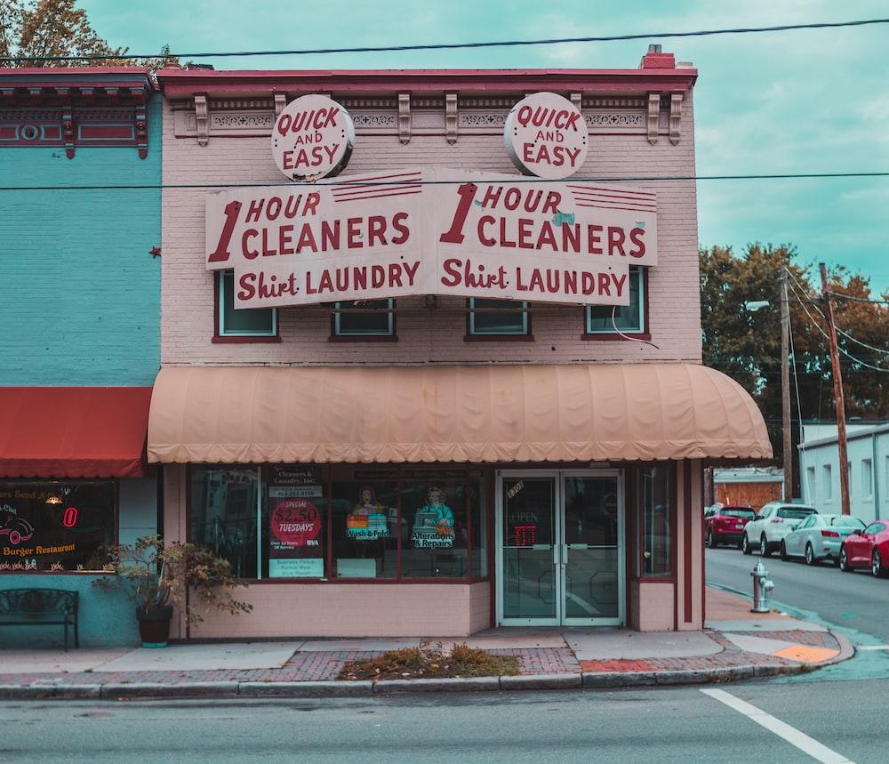 closed laundry shop
